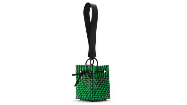 TRUSS Medium Square Bucket Bag in Green