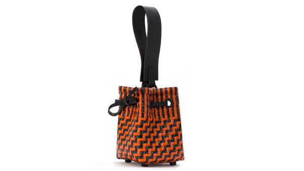 TRUSS Party Bag w/Leather Handles in Orange