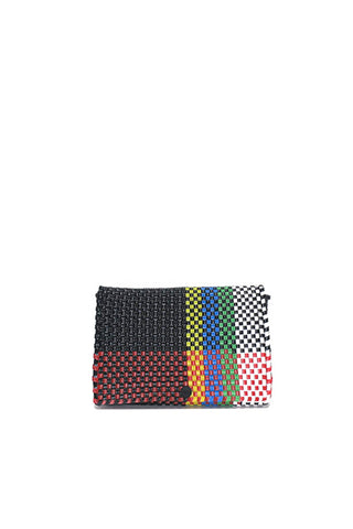 TRUSS Pochette Clutch in Multicolor/ Red & Yellow