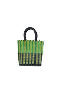 TRUSS Mini Tote in Tube Weave in Yellow, Green & Blue