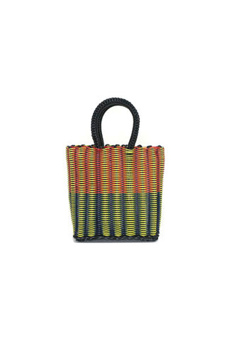 TRUSS Mini Tote in Tube Weave in Red, Blue & Yellow