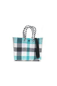 TRUSS Small Crossbody Tote in Green Plaid