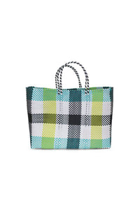 TRUSS Large Tote in Green/Yellow Plaid