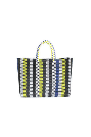 TRUSS Large Tote in Blue/Yellow Stripe