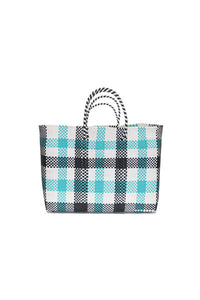 TRUSS Large Tote in Green Plaid