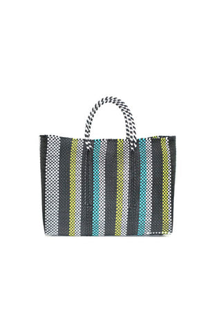 TRUSS Large Tote in Yellow/Green Stripe