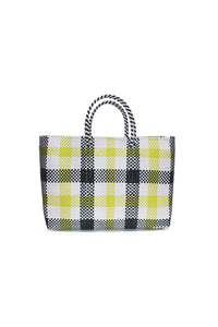 TRUSS Large Tote in Yellow Plaid
