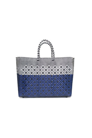TRUSS Large Tote in Half Dip Navy Rhombus