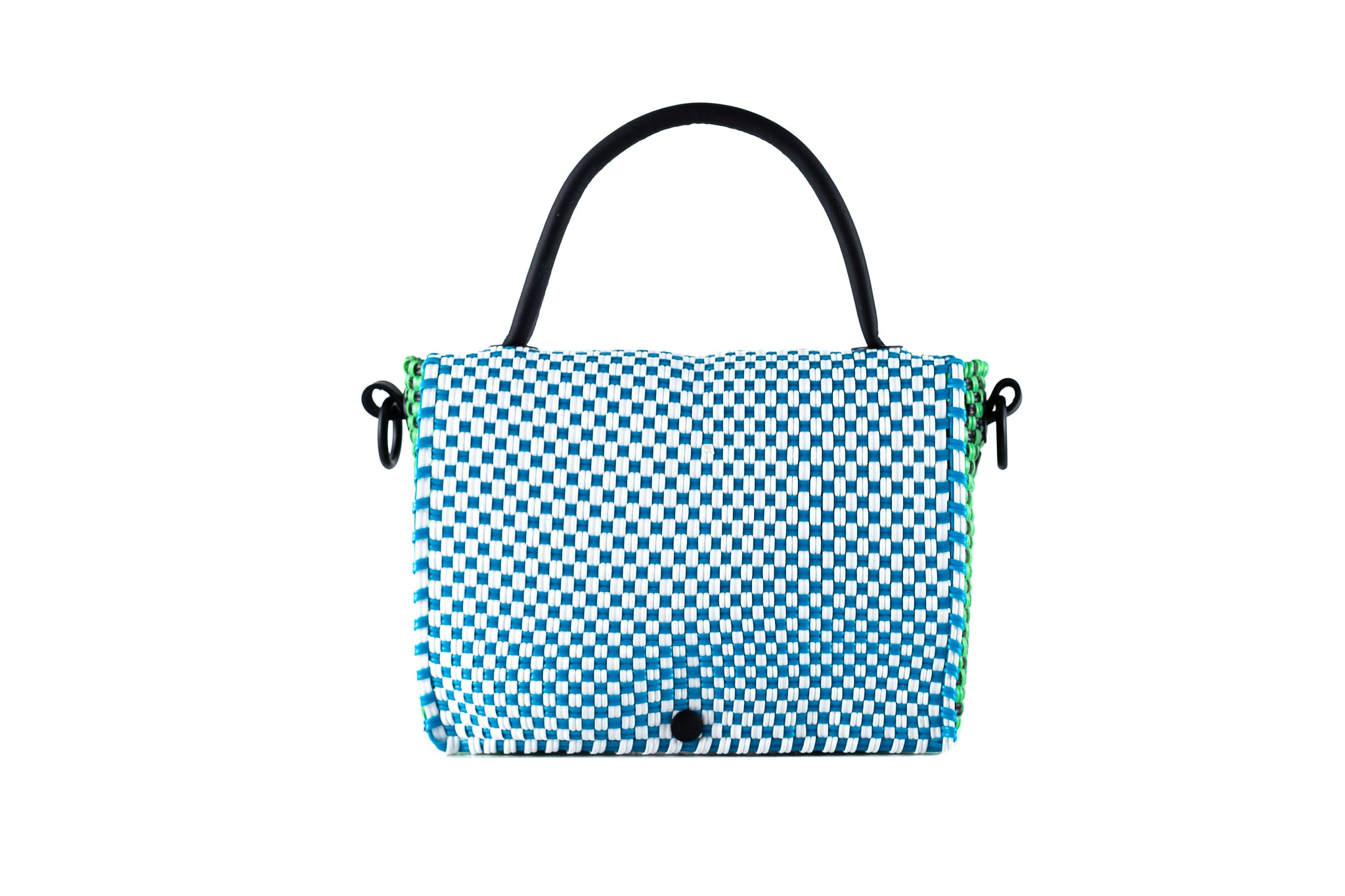 TRUSS Large Top Handle Crossbody in Blue/Green