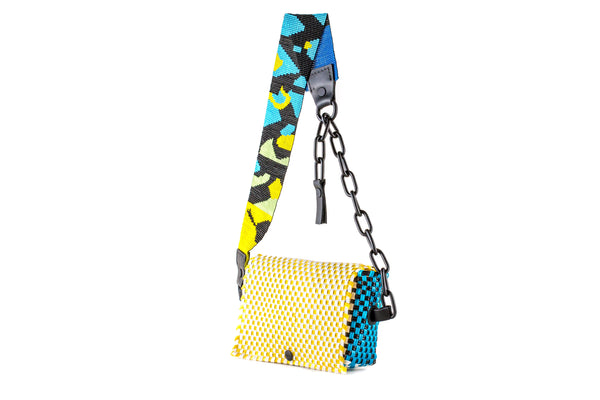TRUSS Beaded Bum Bag w/chain with Python Glass Bead Strap