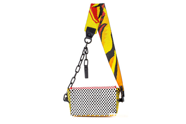 TRUSS Beaded Bum Bag w/chain with Toucan Glass Bead Strap