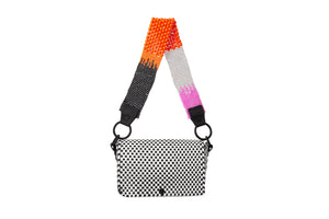 TRUSS Beaded Strap Baguette in Pink & Orange