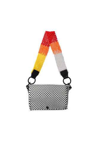 TRUSS Beaded Strap Baguette in Red, Yellow & Orange