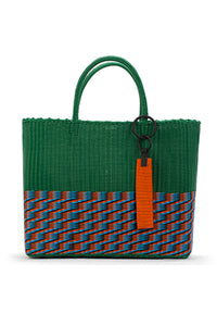 TRUSS Green Large Tote Bag w/ Bead Keyfob