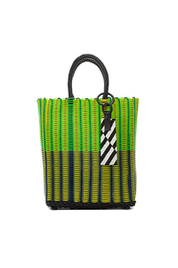 TRUSS Small Tote in Yellow/Green/Blue w/Keyfob