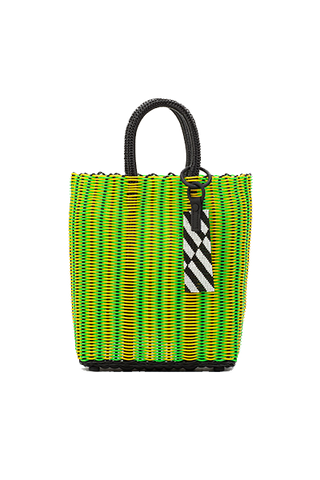 TRUSS Small Tote in Yellow/Green