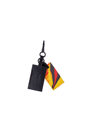 TRUSS Leather Cardholder with Glass Bead Fob in Toucan