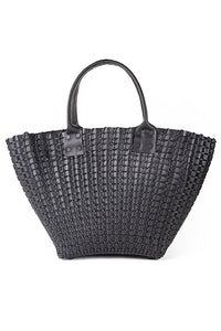 TRUSS Woven Leather Medium Tote