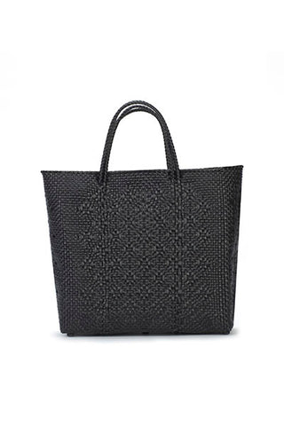 TRUSS Medium Tote in Black w/ Leather Pocket