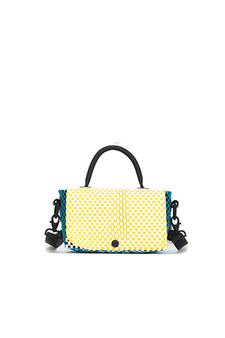 TRUSS Crossbody Mini Top Handle Crossbody in Turquoise, Yellow, Green