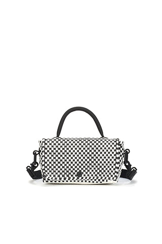TRUSS Mini Top Handle Crossbody in Blk/White
