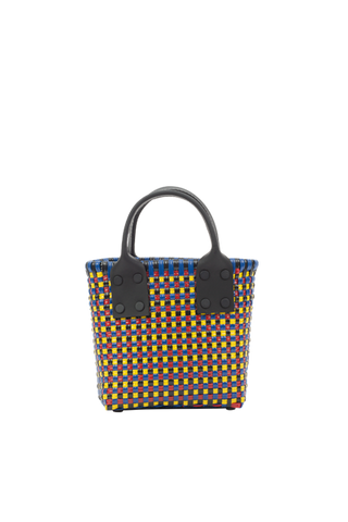 TRUSS Micro Tote w/ Leather Handles in Blue