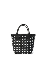 TRUSS Woven Leather Micro Tote