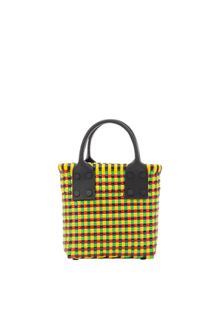 TRUSS Micro Tote w/ Leather Handles in Yellow