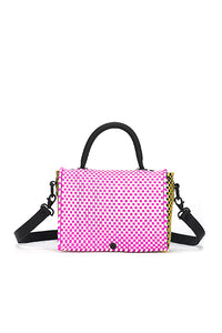 TRUSS Large Top Handle Crossbody in Pink & Orange