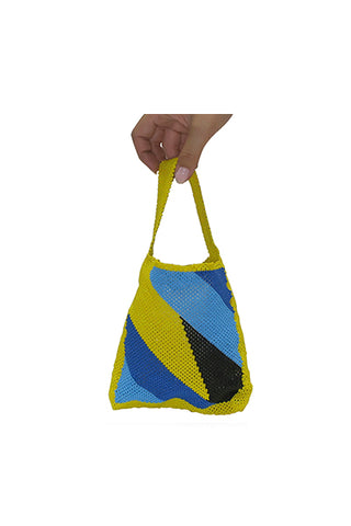 TRUSS Beaded Party Bag in Yellow/Blue/Black