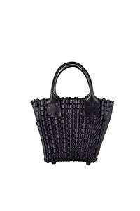 TRUSS Woven Leather Small Tote