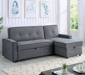 "Belmont 88"" Sectional Sofa Bed with Storage"