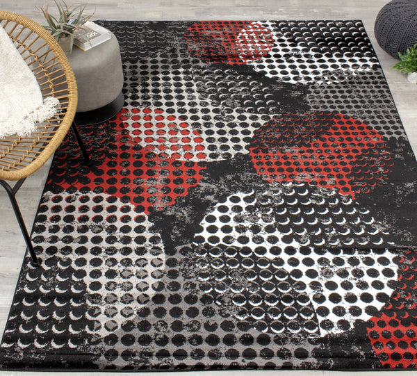 Platinum Dotted Rug