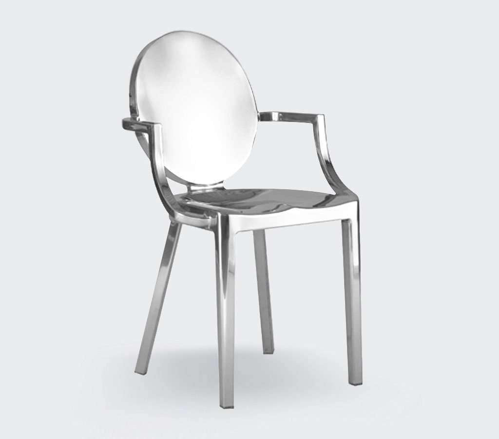 King Stainless Steel Side Chair