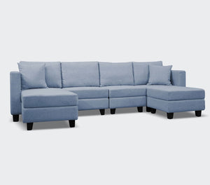 Mini-loo 6-Piece Modular Sofa with Storage