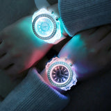 Led Harajuku silicone creative fashion trend male and female students couple jelly watches