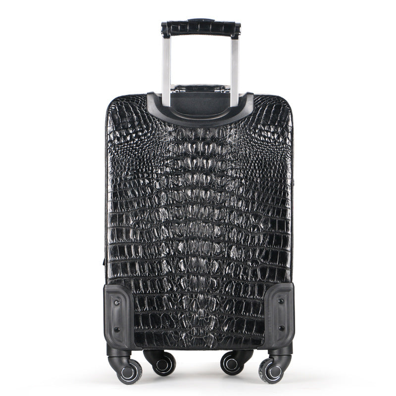 Crocodile skin high end leather business suitcase