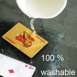 washable 24k gold-plated playing cards with case