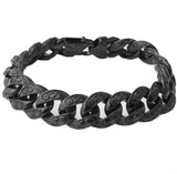 Men's European and American fashion titanium steel stainless steel bracelet