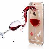 Luxury 3D Red Wine Cover for iPhone 8 7 6S 6 5 5S SE