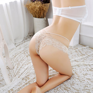 New hot low waist lace mesh gauze underwear Japanese girls T pants sexy thong women transparent temptation