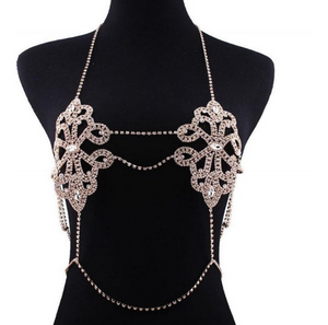 Luxury Harness Bikini Rhinestone Bralette Body Chains Belly Chain Jewelry