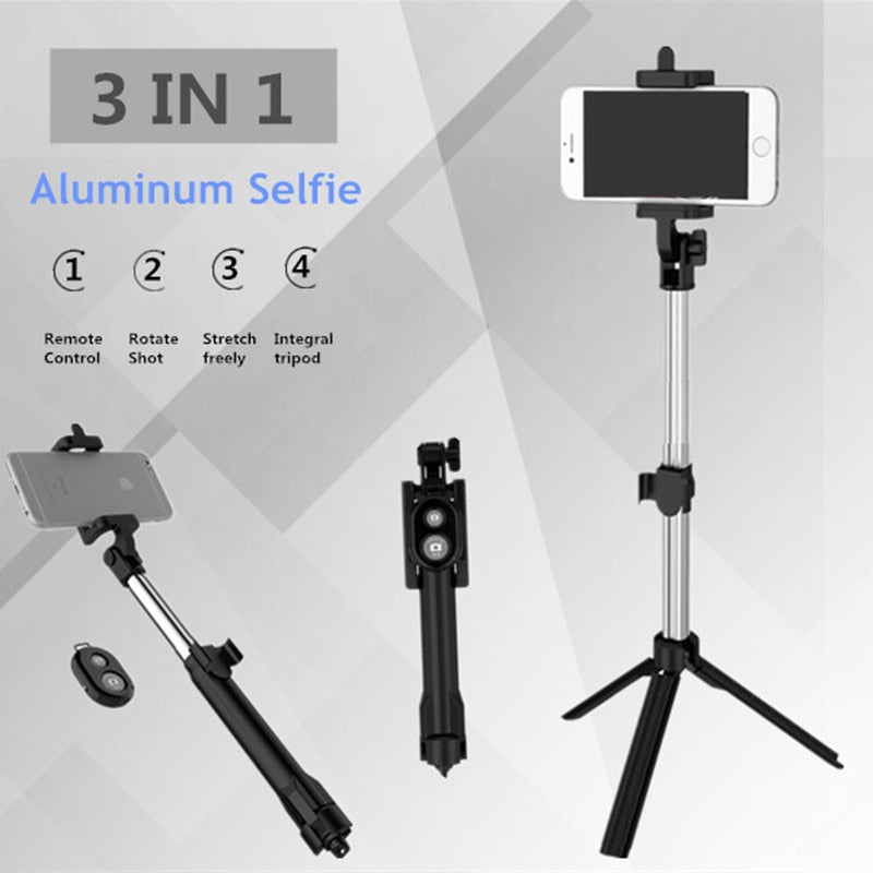 Amazing Selfie Tripod Monopod Bluetooth With Button For Iphone