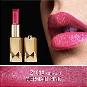Waterproof Hyaluronic Acid Lipstick with Gold Lipstick Case Giveaway