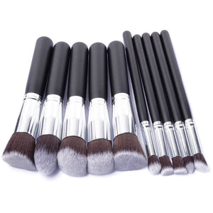 10 Pcs Silver / Golden Makeup Brushes Set GIVEAWAYS