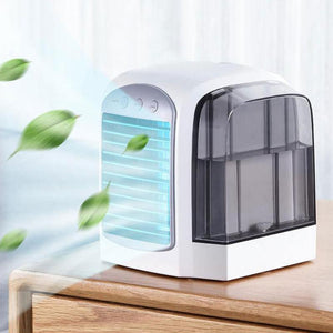 380mL USB Mini Portable Air Conditioner Humidifier Purifier Desktop Air Cooler Fan Portable Air Cooling Fan for Office Home Room