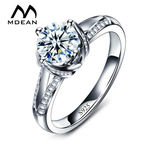 MDEAN Engagement Rings For Women AAA Zircon Jewelry