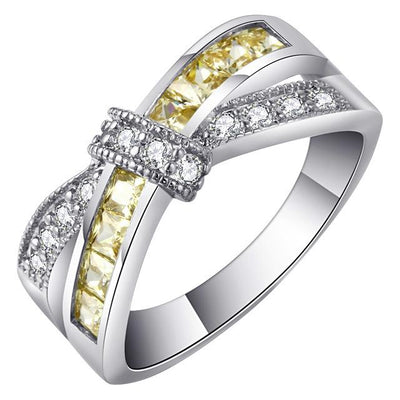 cross finger ring for lady hot Princess women Wedding Engagement Ring