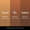 Sunset Collection Pigment Colour Chart