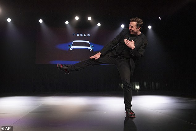 Elon Musk's unveiling of the Model Y is overshadowed by his custom Tesla Jordan 1 sneakers made with python skin and Twitter users joke they are probably solar powered and self-tightened